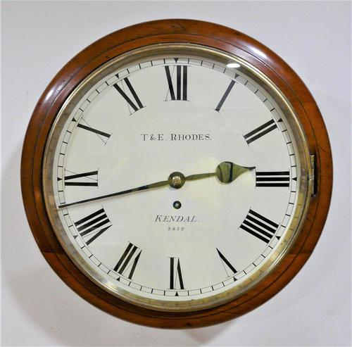 """Fabulous 12"""" English Fusee Dial Timepiece by Thomas & Edmund Rhodes 1868 (1 of 9)"""