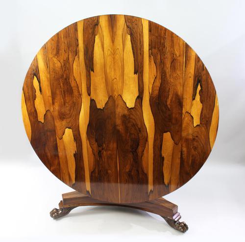 Fine William IV Sabina Wood Centre Table c.1830 (1 of 10)