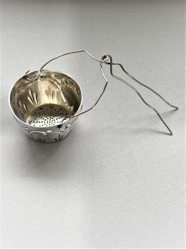 Late 19th Century French Silver Suspension Tea Strainer (1 of 5)