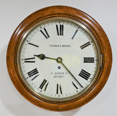 """Wonderful 12"""" English Fusee Dial Timepiece by Thomas Moore 1870 (1 of 9)"""