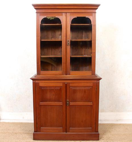 Teak Glazed Library Bookcase (1 of 11)