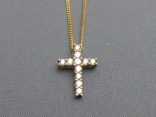 Gold & Diamond Cross & Chain (1 of 6)