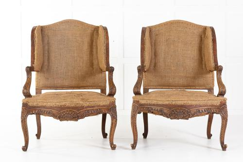 Pair of 19th Century French Oak Armchairs (1 of 9)