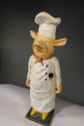 Most Amusing Early 20th Century Cast-Iron Figure of a Piglet (1 of 7)