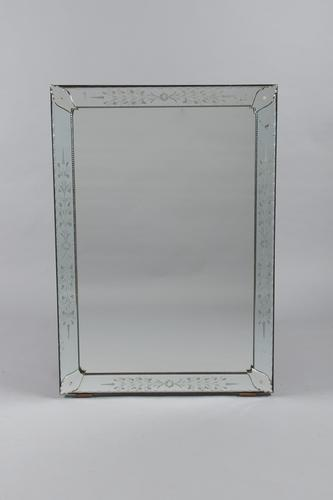 Large Italian Venetian Overmantle Mirror (1 of 6)