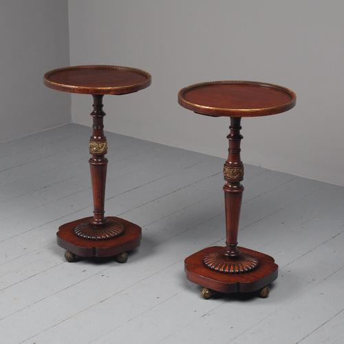 Pair of Regency Mahogany Circular Wine Tables (1 of 11)