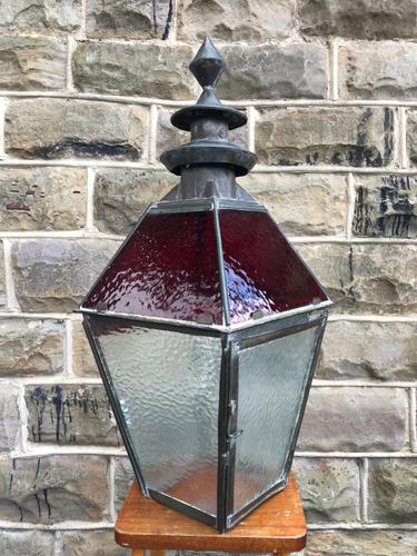 Antique Glazed Copper Lantern (1 of 8)