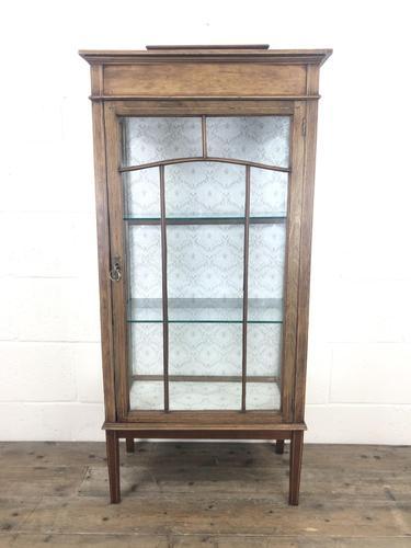 Edwardian Inlaid Mahogany Display Cabinet (1 of 10)