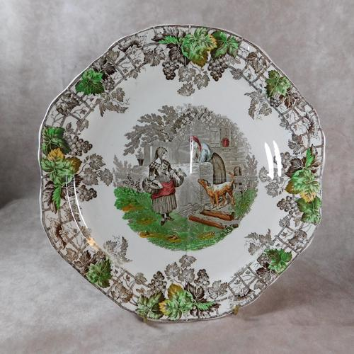 1930's Spode Byron Series No1 Sandwich Plate by Copeland (1 of 7)