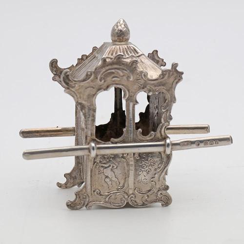 Victorian silver miniature sedan chair (1 of 4)