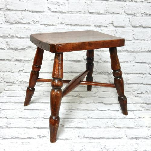 Small Elm Country Stool (1 of 6)