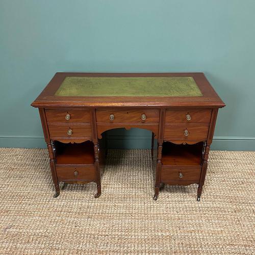 Small Victorian Walnut Antique Writing Desk (1 of 5)
