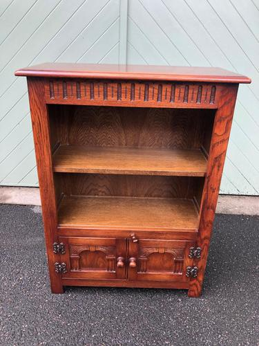 Carved Oak Open Bookcase (1 of 7)