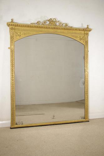 Victorian Gilt Adam Style Overmantle Mirror (1 of 10)