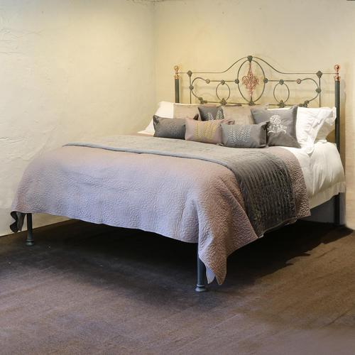 Cast Iron Antique Bed with Copper (1 of 9)