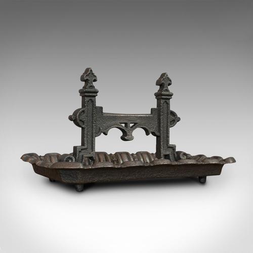 Large Antique Boot Scraper, English, Wrought Iron, Aesthetic Period c.1880 (1 of 12)