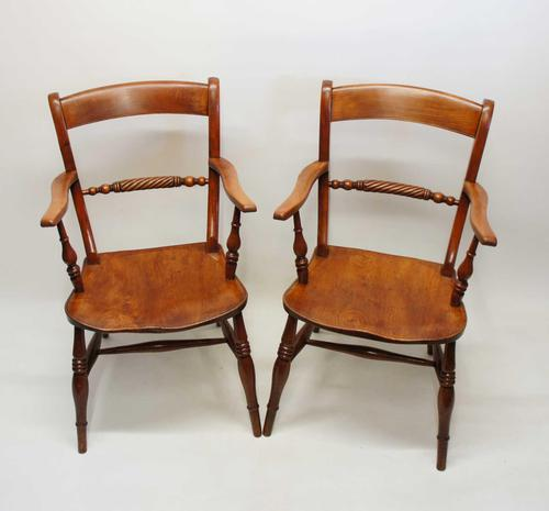 Pair of Victorian Rope Back Oxford Chairs in Elm & Beech (1 of 15)