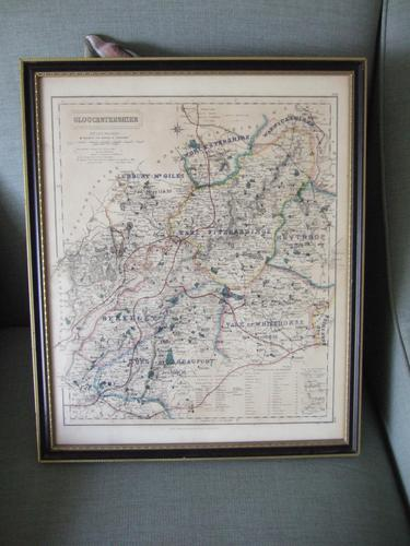 19th Century Fox-hunting Map of Gloucestershire by J & C Walker (1 of 4)