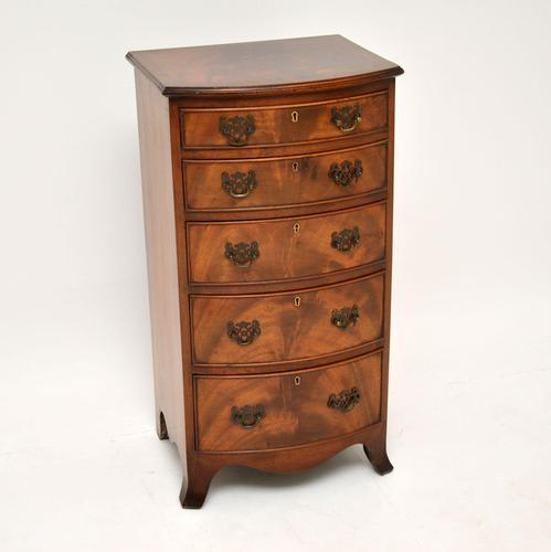Antique Mahogany  Bow Front Chest of Drawers (1 of 11)