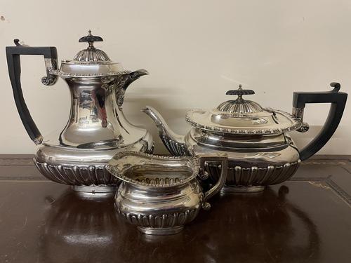 Edwardian William Aitken Solid Silver Tea & Coffee Set Birmingham 1903 (1 of 14)
