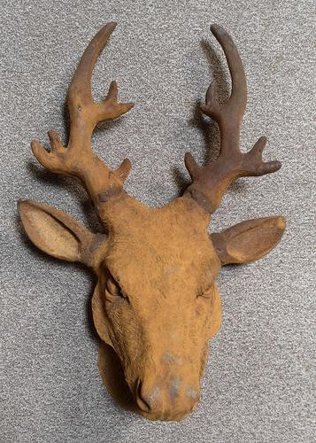 Cast Iron Stags Head, Cast Iron Garden Ornament (1 of 7)