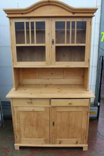 1920s Country Pine Dome Top Dresser with Glazed Display Top (1 of 5)