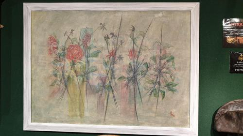 Beautiful Large Framed Painting on Canvas.  c.1960 (1 of 4)