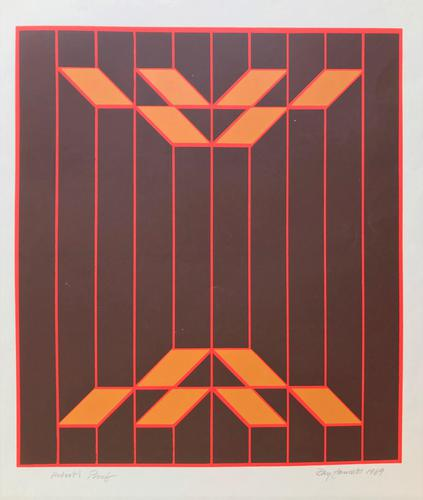 Original Screen Print 'Untitled' by Ray Fawcett - Signed & Inscribed Artist's Proof & Dated 1969 (1 of 2)