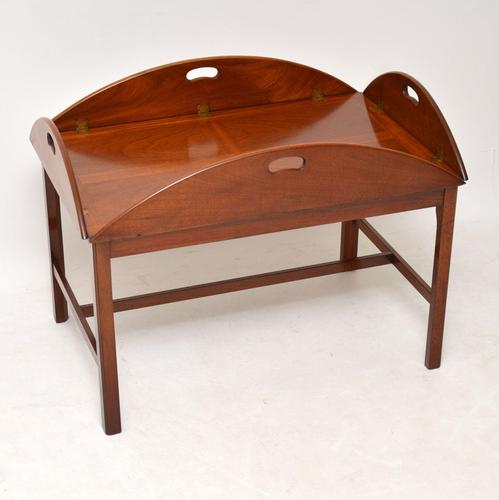 Antique Mahogany Butlers Tray Coffee Table (1 of 10)