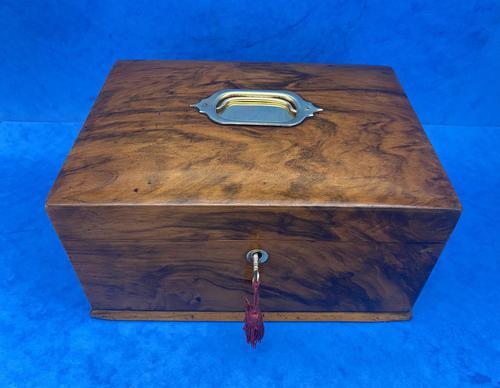 Walnut Jewellery Box c.1900 (1 of 14)