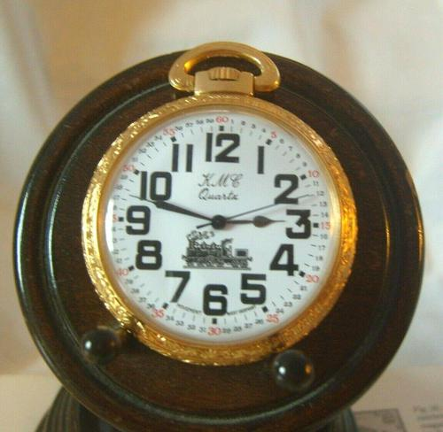Vintage Pocket Watch 1970s Railroad 12ct Gold Plated West Germany Nos (1 of 11)