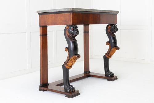 Early 19th Century Walnut Console Table with Marble Top (1 of 7)