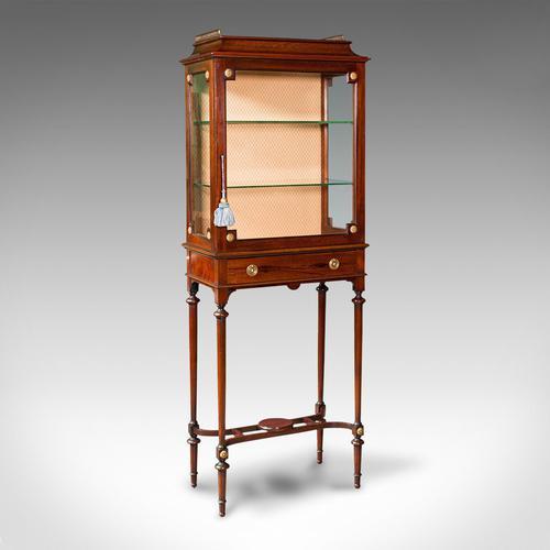 Antique Raised Pier Cabinet, English, Mahogany, Display Case, Edwardian, C.1910 (1 of 12)