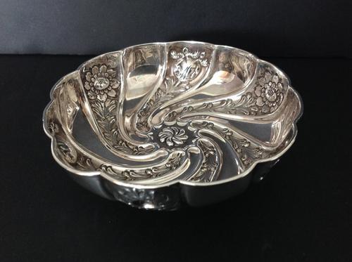 Antique Edwardian Silver Art Nouveau Dish/bowl - 1903 (1 of 5)
