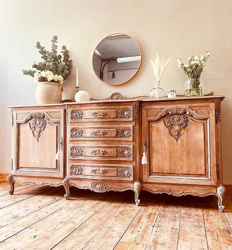 French Antique Sideboard / Louis XV Style Sideboard / Antique Oak Buffet (1 of 9)