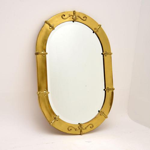 Antique French Brass Framed Mirror (1 of 10)