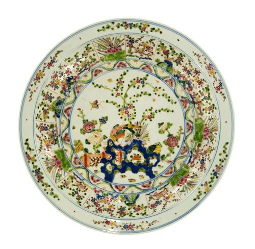 Mid 19th Century Porcelain Chinese Charger with Enamelled Decoration (1 of 5)