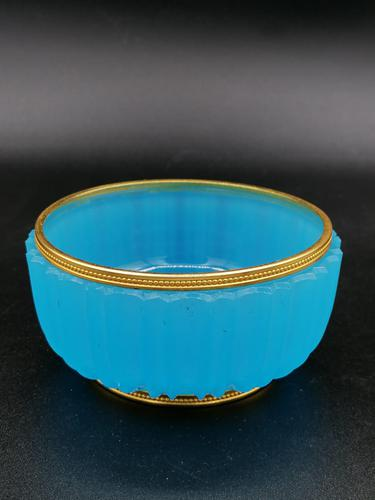 Antique French Opaline Bronze Mounted Bowl (1 of 4)