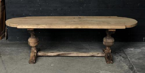 19th Century Rustic Oak Farmhouse Dining Table (1 of 23)