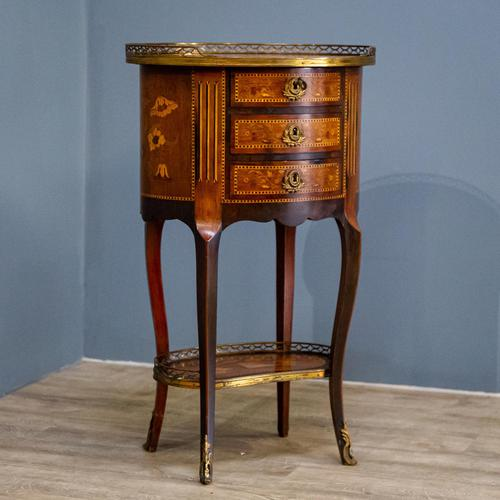 Inlaid French 3 Drawer Chest c.1900 (1 of 8)