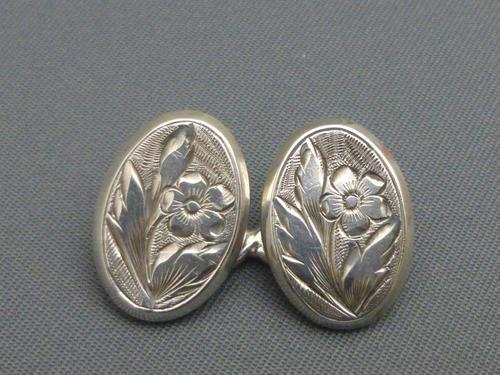 Silver Victorian Cufflinks (1 of 6)