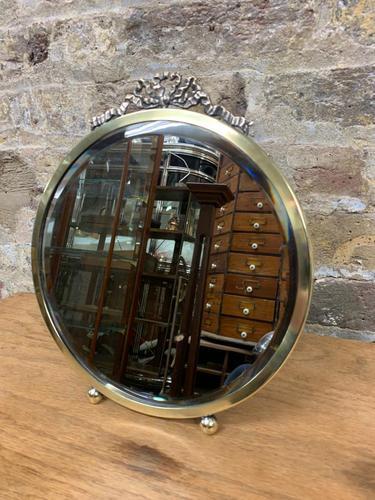 Round Brass Mirror (1 of 5)