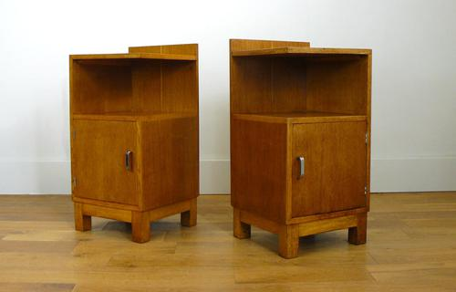 Pair of Golden Oak 1930s Bedside Cabinets by Heals (1 of 8)