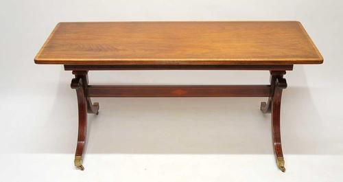 19th c Mahogany Stretcher Table Ideal Coffee Table (1 of 20)