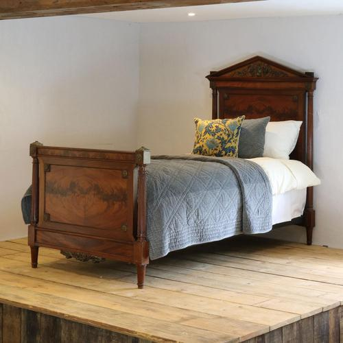 French Empire Style Mahogany Antique Bed (1 of 7)