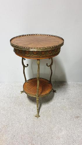 Superb French Brass Mounted Lamp Table (1 of 10)