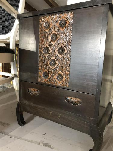 Vintage Hardwood Decorative Sewing Box Cabinet (1 of 10)