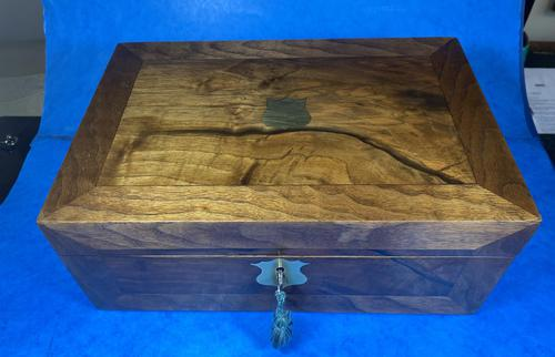 Victorian  Walnut Writing Slope with Secret Drawers (1 of 17)