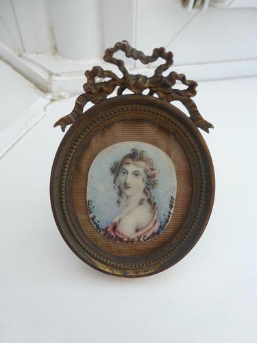 Artist Anthony Vandyke Copley Fielding Miniature of Alice Birket Foster (1 of 11)