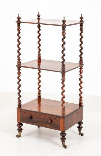 Pretty Victorian Rosewood Whatnot (1 of 7)